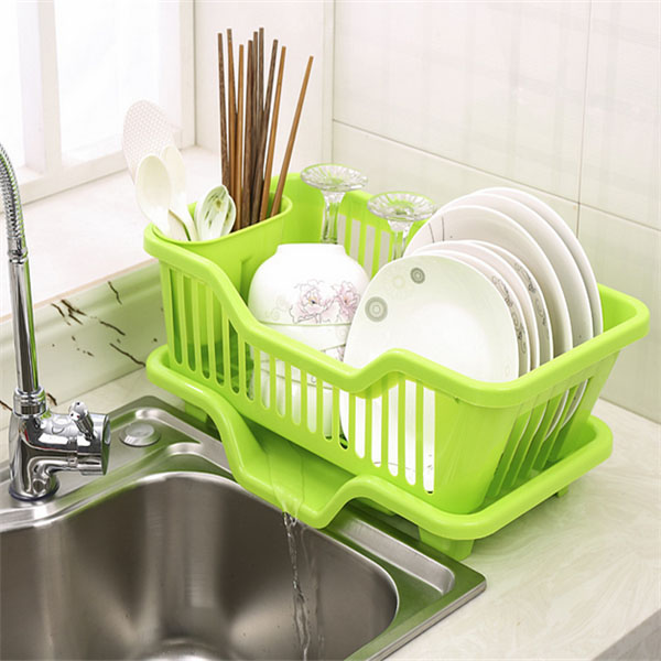 Dish Drainer With Drip Tray For Kitchen Sink Rack Ideamart Online