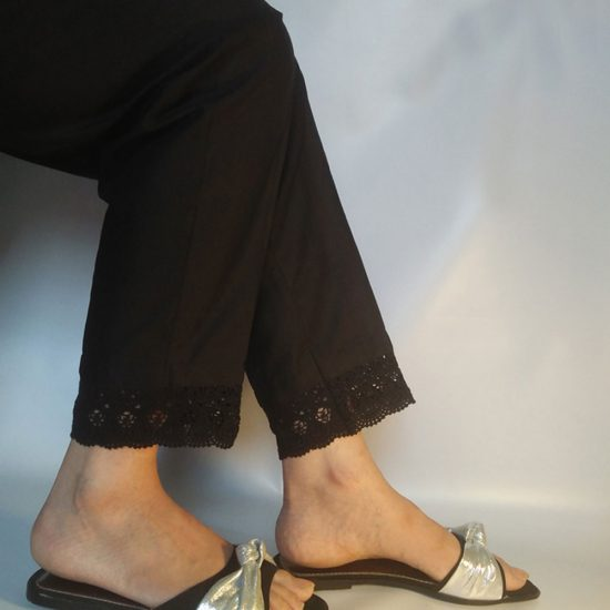 black-cotton-trouser-for-ladies-with-stylish-lace-pakistan-3