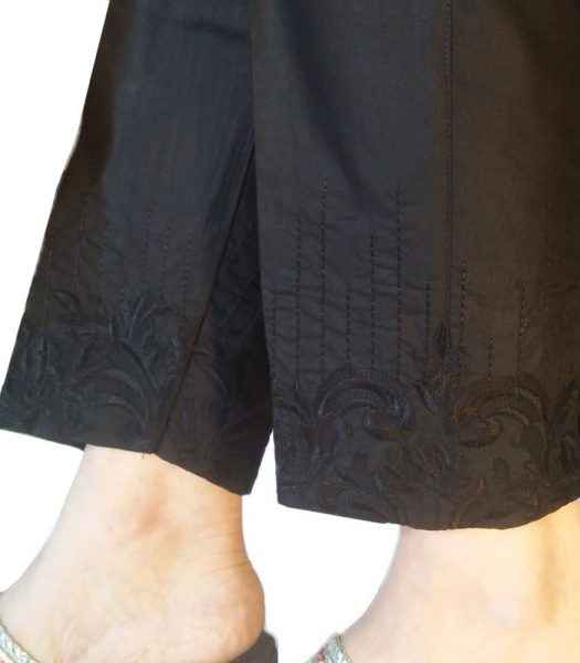 black-women-cotton-embroidered-trouser-in-pakistan-kt70-1