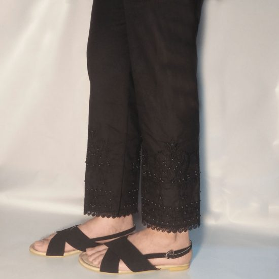 embroided-trouser-pant-beads-pure-cotton-black-zt41-pakistan-2